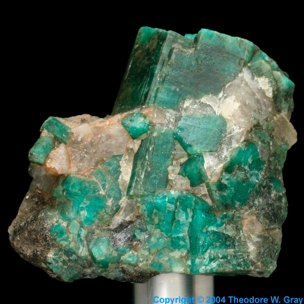 Aquamarine Beryl A Sample Of The Element Silicon In The