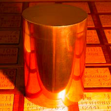 Copper 63 pound solid brass cylinder