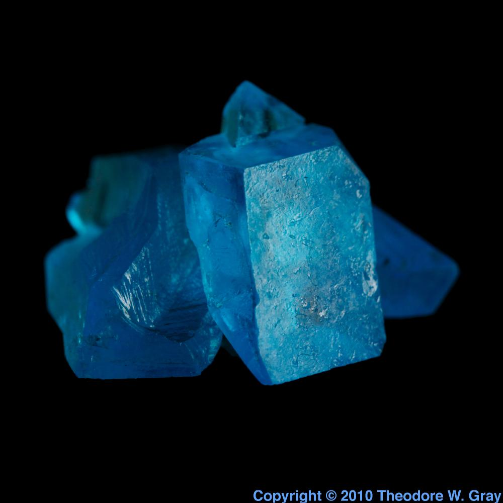 Copper Sulfate Crystal A Sample Of The Element Copper In