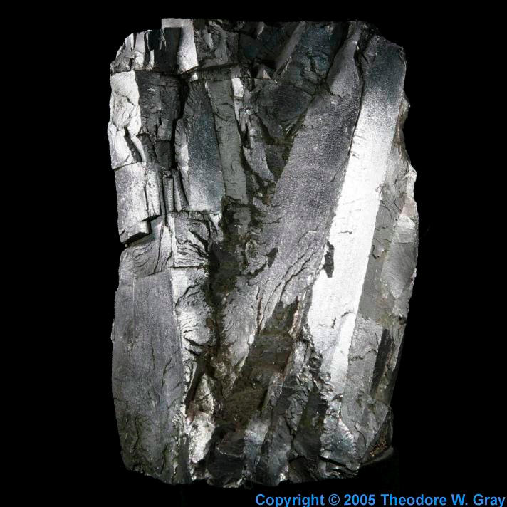 Iron Huge ferrochrome crystal