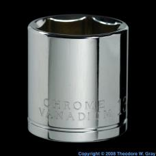 Vanadium Chrome-vanadium steel socket