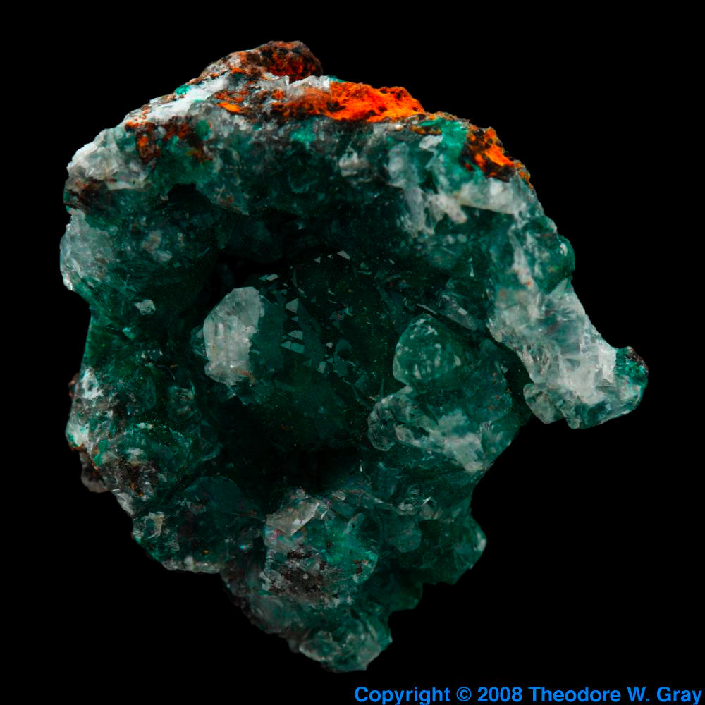 Aurichalcite, a sample of the element Zinc in the Periodic Table