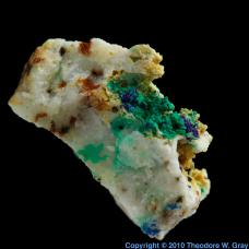 Carbon Azurite and Malachite