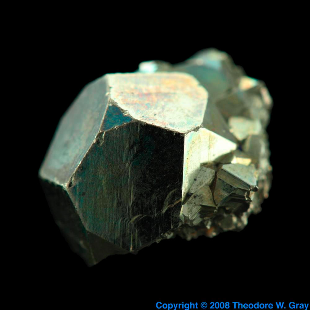 pyrite  a sample of the element iron in the periodic table