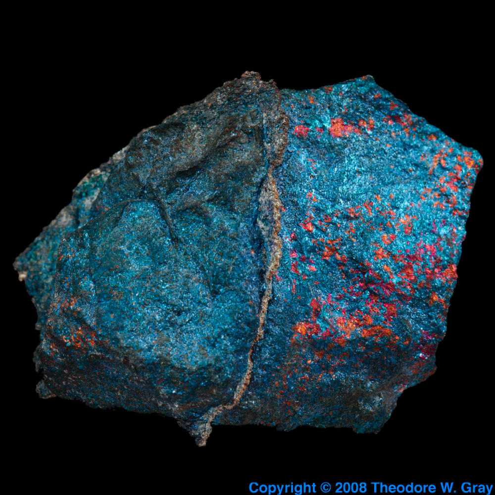 Element Silvers: Silver In Bornite, A Sample Of The Element Silver In The