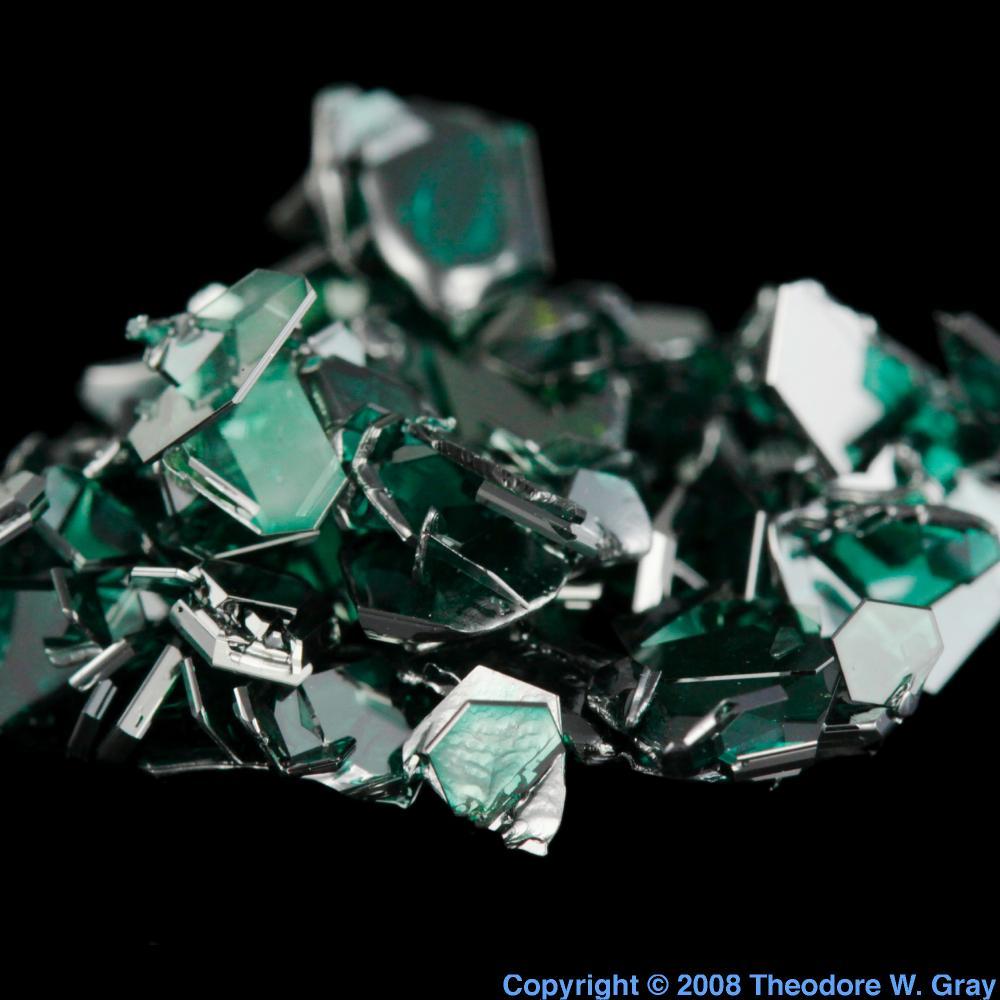 Silicon Carbide crystals, a sample of the element Silicon ...
