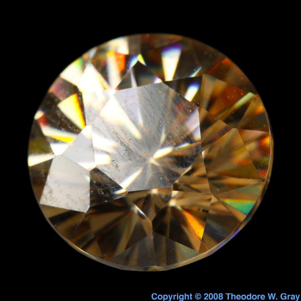 Strontium Titanate fake diamond, a sample of the element ...