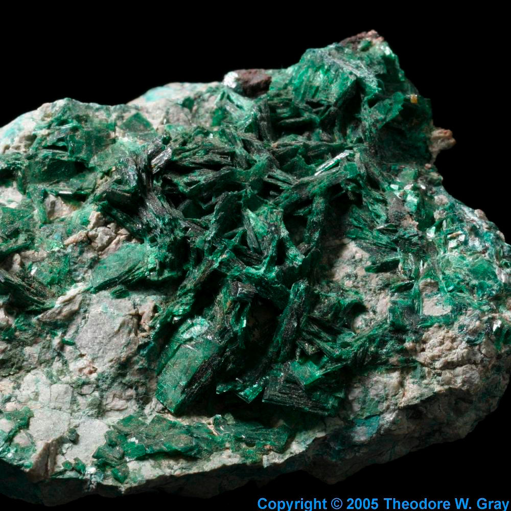 Torbernite, a sample of the element Uranium in the ...