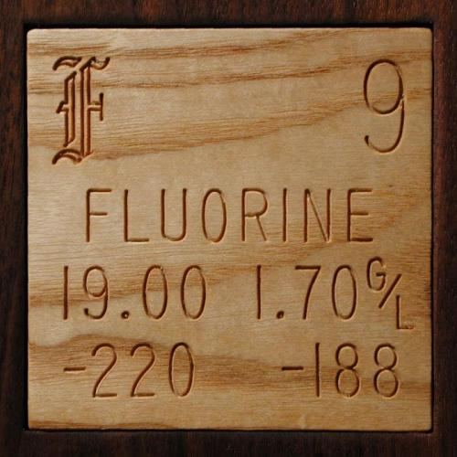 Sample of the element Fluorine in the Periodic Table