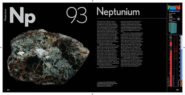 Neptunium in The Elements by Theodore Gray